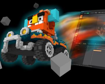 VOXEDIT; Create 3D pixels