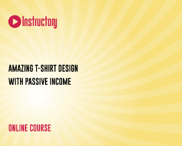 Amazing T-shirt Design With Passive Income