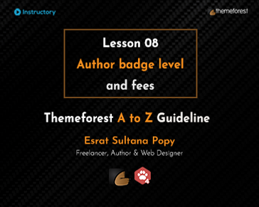 Author badge level and fees