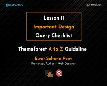 Important Design Query Checklist