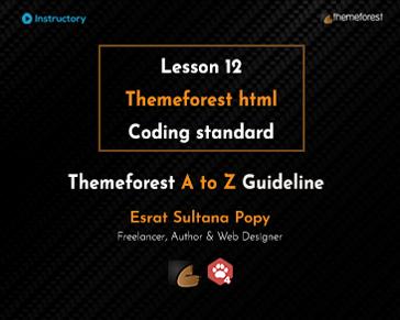 Themeforest html Coding standard
