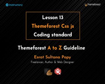 Themeforest Css js Coding standard