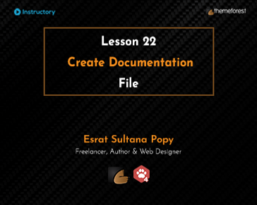 Create Theme Documentation File