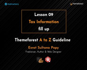 Tax Information fill up