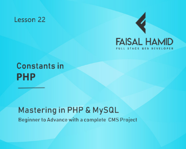 Lesson 22 - Constants in PHP