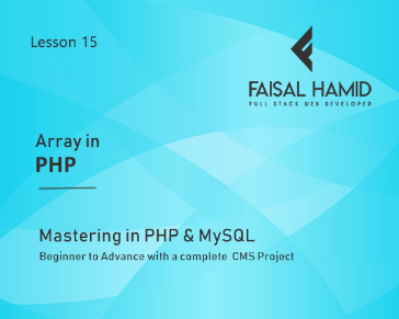 Lesson 15 - Array In PHP