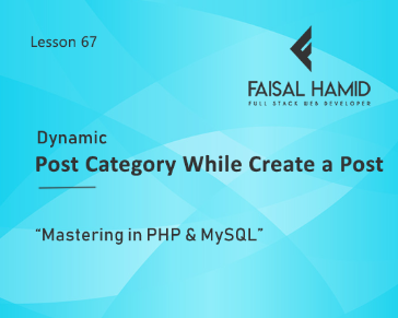 Lesson 67 - Make Dynamic Post Category while Creating post
