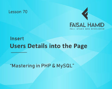 Lesson 70 - Insert the Users Details from Database to the Page Template