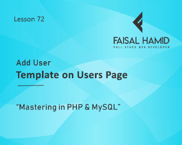 Lesson 72 - Add User Template on Users Page