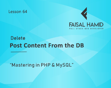 Lesson 64 - Delete Blog Post from The Database