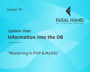 Lesson 76 - Update User Information into DB