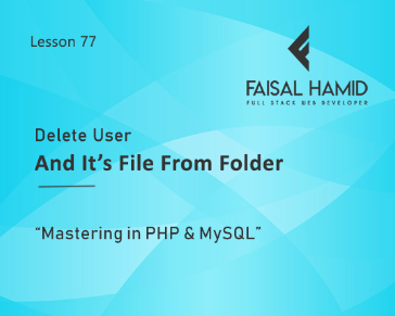 Lesson 77 - Delete User and it's FIle from DB