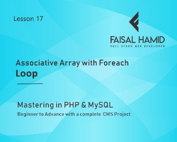 Lesson 17 - Associative Array with Foreach Loop