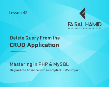 Lesson 42 - Delete Query From the CRUD Application