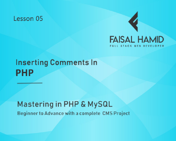 Lesson 5 - Inserting Comments in PHP Codes