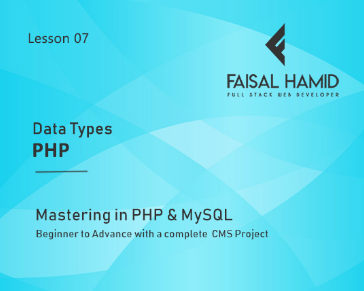 Lesson 7 - Data Types in PHP