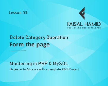 Lesson 53 - Delete Category Operation from the Page