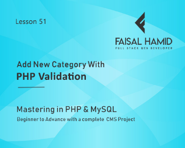 Lesson 51 - Add New Category With PHP Validation