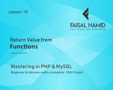 Lesson 19 - Function Parameters in PHP