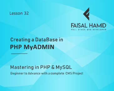 Lesson 32 - Creating a Database in PHP MyAdmin