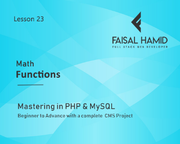 Lesson 23 - Math Functions in PHP