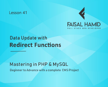 Lesson 41 - Data Update with Redirect Functions