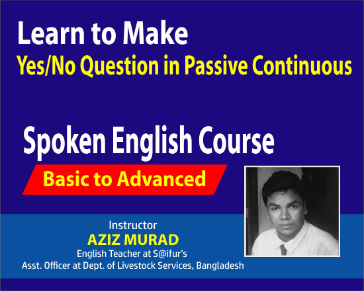 Learn to Make Yes/No Questions in Passive Continuous