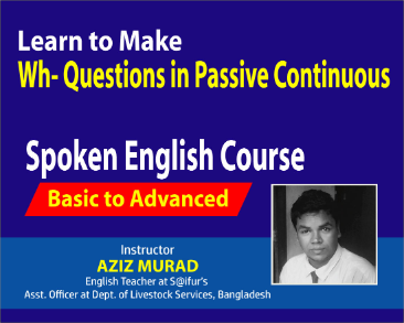 Learn to Make Wh-Questions in Passive Continuous