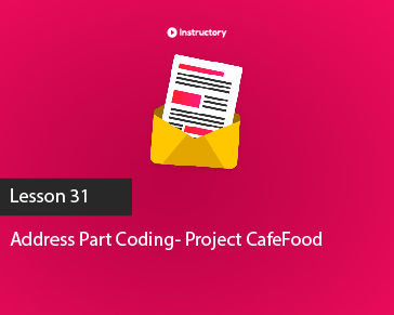 Project CafeFood|| Address Part Coding|| PSD To Html Email