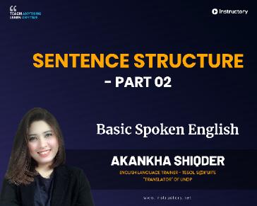 Sentence Structure - Part 02
