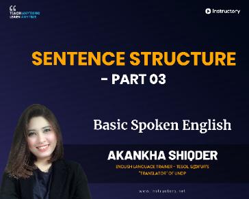 Sentence Structure - Part 03