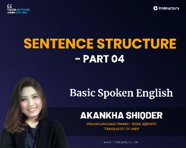 Sentence Structure - Part 04