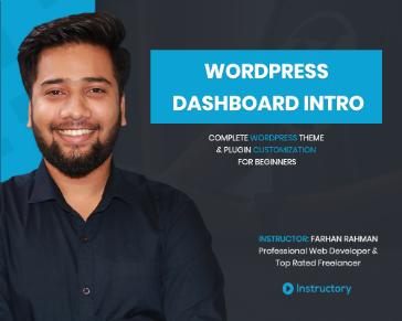 WordPress Dashboard Intro - Part 01