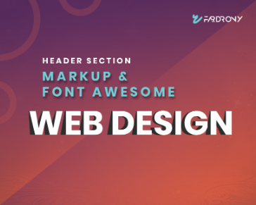 Header Section Markup & Font Awesome