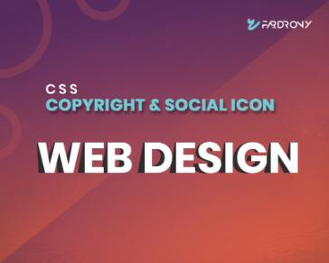 Copyright & Social Icon