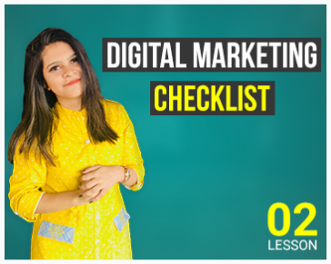Lesson Two:  Digital Marketing Checklist