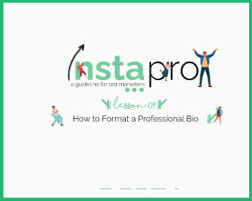 Lesson 07: How to Format a Professional Bio