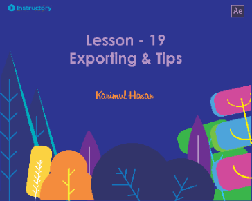 Lesson 19 : Exporting & Tips