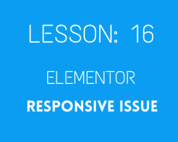 lesson 16. Elementor Responsive Issue