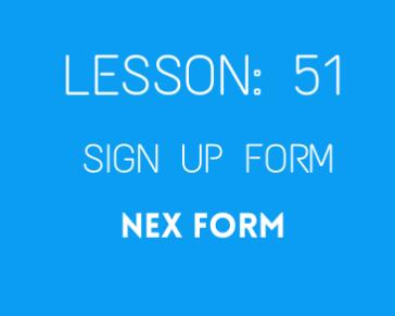 Lesson 51 Nex Form  ( No1 Form Builder )