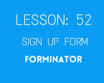 lesson 52. Forminator form ( custom login )