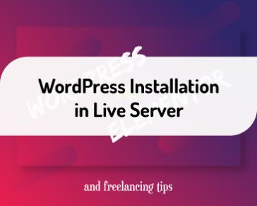 WordPress Installation in Live Server