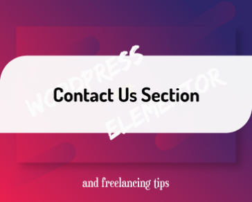 Contact Us Section