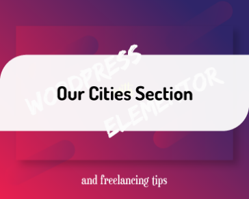 Our Cities Section of the project