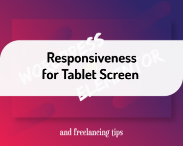 Responsiveness for Tablet Screen