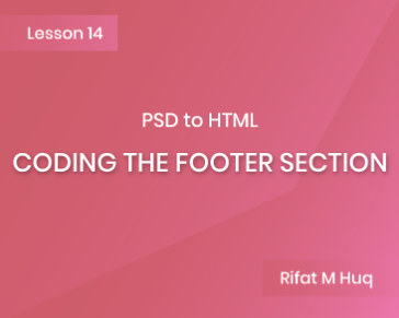 Lesson 14: Coding the Footer Section