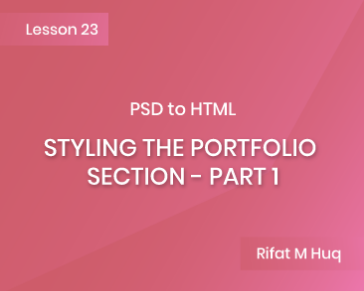 Lesson 23: Styling the Portfolio Section - Part 1
