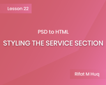 Lesson 22: Styling the Service Section
