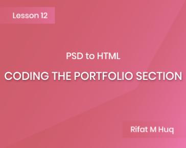 Lesson 12: Coding the Portfolio Section