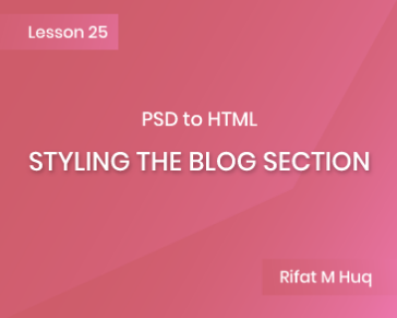 Lesson 25: Styling the Blog Section